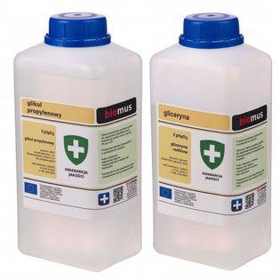 Gliceryna roślinna 1kg + Glikol Propylenowy 1l