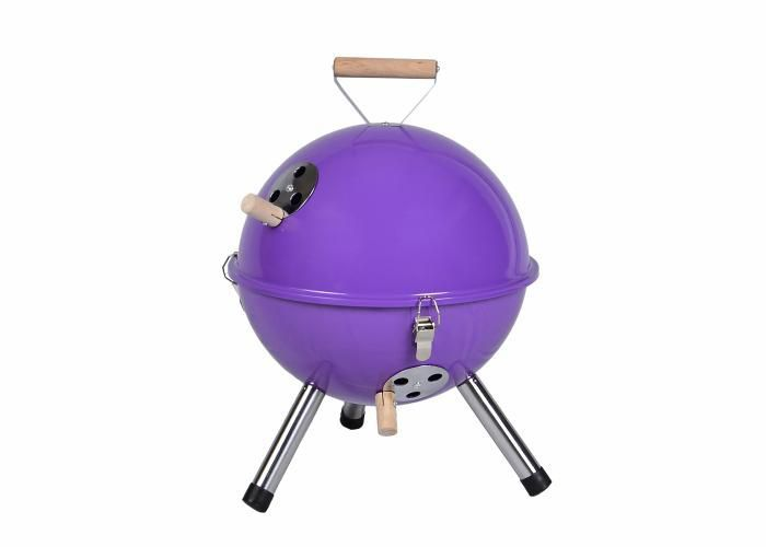 Kolorowy kulisty grill przenośny - fioletowy D00692 zdjęcie 1