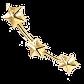 ORION Kolczyk złoty nausznica gwiazdy