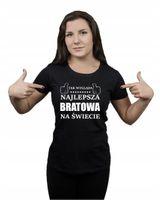 Koszulka damska NAJLEPSZA BRATOWA NA ŚWIECIE L