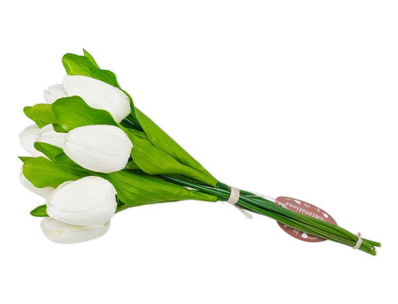 Tulipany Białe Bukiet Duży Sztuczne Kwiaty Piękny Białe Arenapl