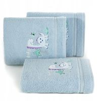 Okrycie Kąpielowe Kapturek Niebieski Ręcznik
