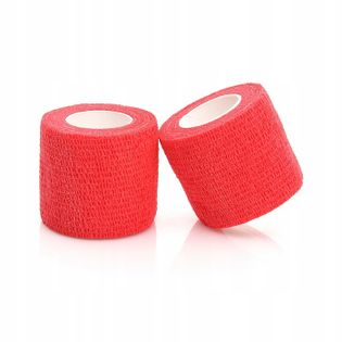 Bandaż kohezyjny samoprzylepny 5cm x 4,5m czerwony