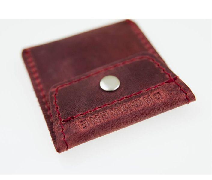 0000558725167 Skórzany portfel na monety bilonówka Brodrene czerwony • Arena.pl
