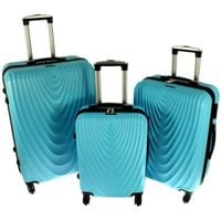Zestaw 3 walizek PELLUCCI RGL 663 Turkusowe