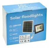 Halogen solarny lampa LED 30W czujnik ruchu + pilot