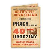 Zaproszenia na 40 urodziny w stylu PRL Prl-owskie