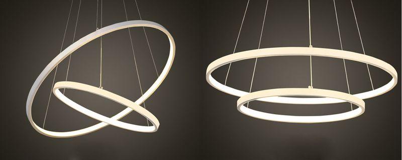 Lampa wisząca SILVA II okrąg żyrandol 40/60cm LED 63W Pilot Wobako na Arena.pl
