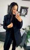 Płaszcz Carmen-czarny S (36)