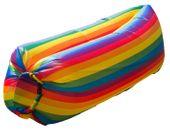 LAZY BAG Air SOFA DMUCHANA Leżak Materac Listki Tęczowy