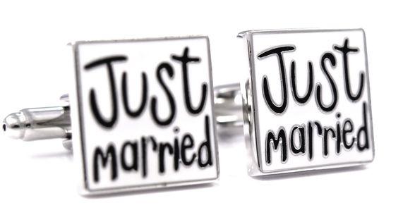Spinki do mankietów - Just Married U55