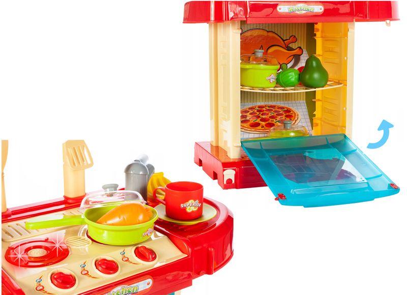 Kuchnia dla dzieci w walizce Piekarnik Zlew Akcesoria kuchenne U07 zdjęcie 8