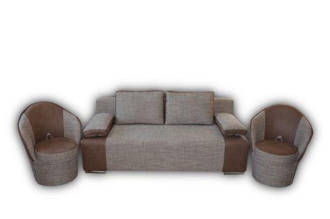 ENZO BIS - wersalka kanapa fotel zestaw komplet wypoczynkowy