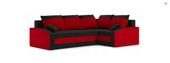 Narożnik GRANDE Bonel - czarno czerwony