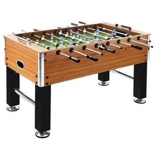 Lumarko Stół do gry w piłkarzyki, stal, 60 kg, 140x74,5x87,5 cm!