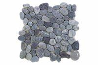 Mozaika z naturalnych kamieni ozdobnych Garth na siatce szara 1 m2 D00968
