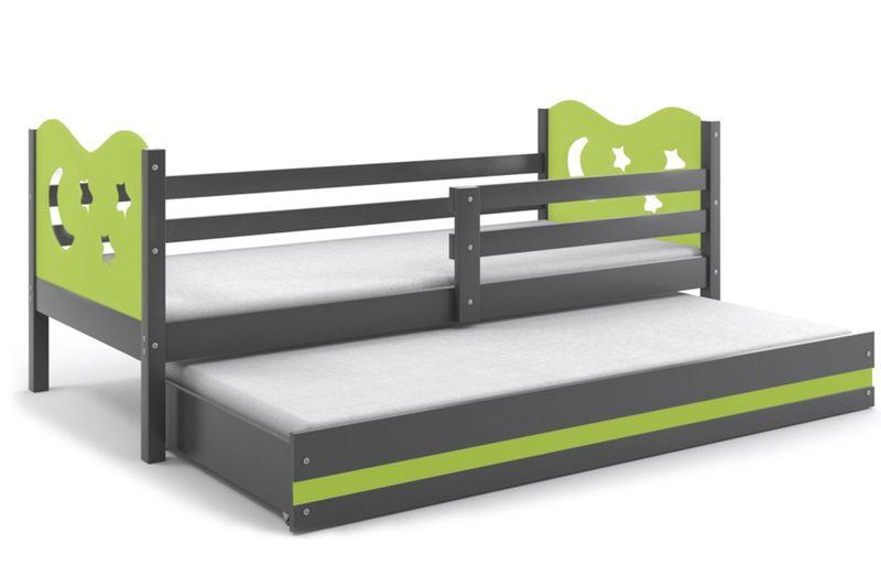 łóżko łóżka Dwuosobowe Wysuwane Miko 200x90 Meble Drewniane Materace