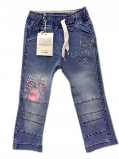 Spodnie jegginsy dziewczęce roz.104