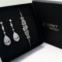 Komplet ślubny GRACE silver + JANICE silver