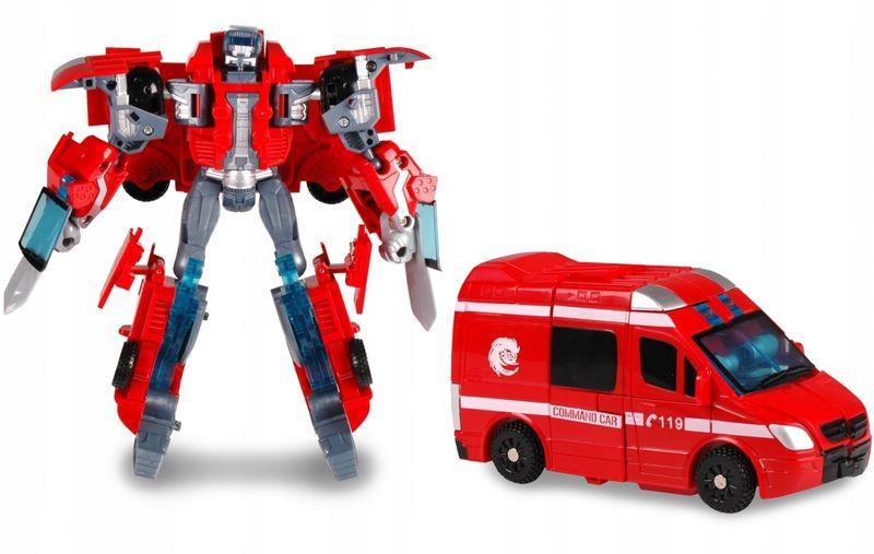 TRANSFORMER Robot AMBULANS Auto 2w1 Samochód ARTYK zdjęcie 3