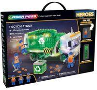 Laser Pegs Świecące Klocki Recycle Truck Śmieciarka 330El. 18600