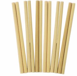 Słomki Bambusowe - HOME DECOR - Zestaw 12 szt