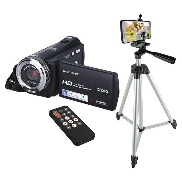 ORDRO DV-12 Kamera cyfrowa z pilotem Full HD 16x Zoom j. polski T237S zdjęcie 1