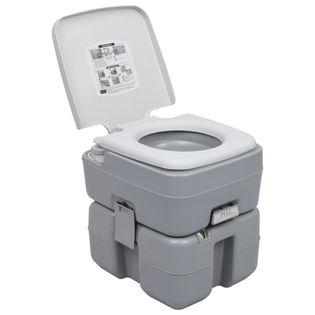 Lumarko Przenośna toaleta turystyczna, szara, 20+10 L