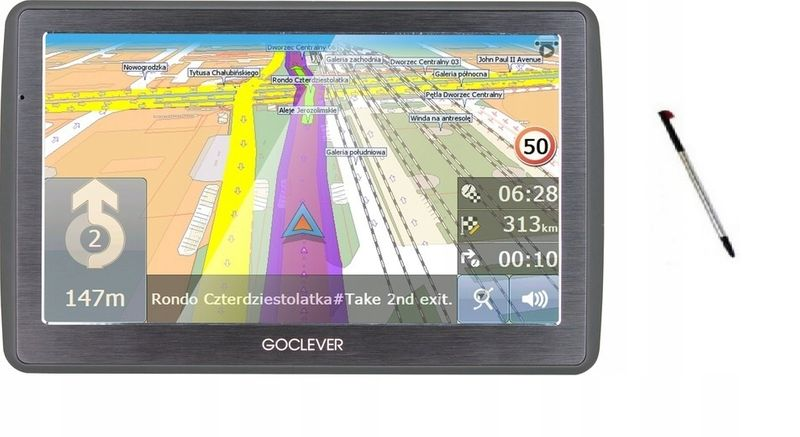 NAWIGACJA GPS GOCLEVER NAVIO 740 PL+EU ODBLOKOWANA na Arena.pl