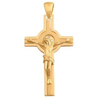 krzyżyk atrakcyjny męski złoty duży