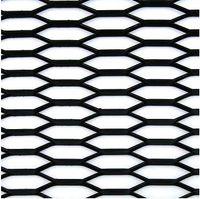 Siatka zderzaka aluminiowa plaster miodu Kamei 30 x 10 mm Czarna