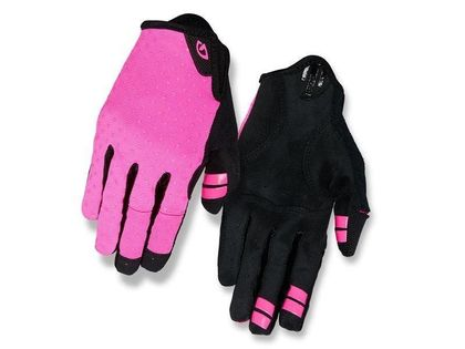Rękawiczki damskie GIRO LA DND długi palec bright pink dots roz. S (obwód dłoni 155-169 mm / dł. dłoni 160-169 mm) (DWZ)