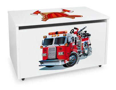 Mobilna skrzynia na zabawki duża Straż Pożarna