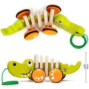HAPE krokodyl na sznurku - zabawka do ciągnięcia