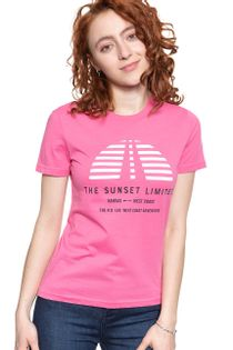 LEE SUNSET TEE CHROME PINK L42XEPNE M