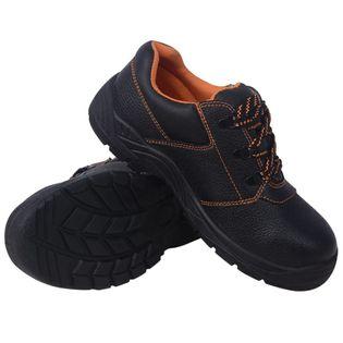 Buty ochronne czarne, rozmiar 45, skórzane
