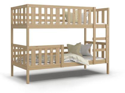 Łóżko piętrowe NEMO sosna + materace