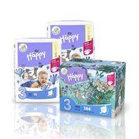 Pieluszki dla dzieci Bella Baby Happy New Flexi Fit Midi BOX 144szt.