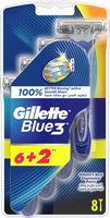 Gilette  Maszynka Do Golenia Jednoczęściowa Blue 3 ( 6+2)