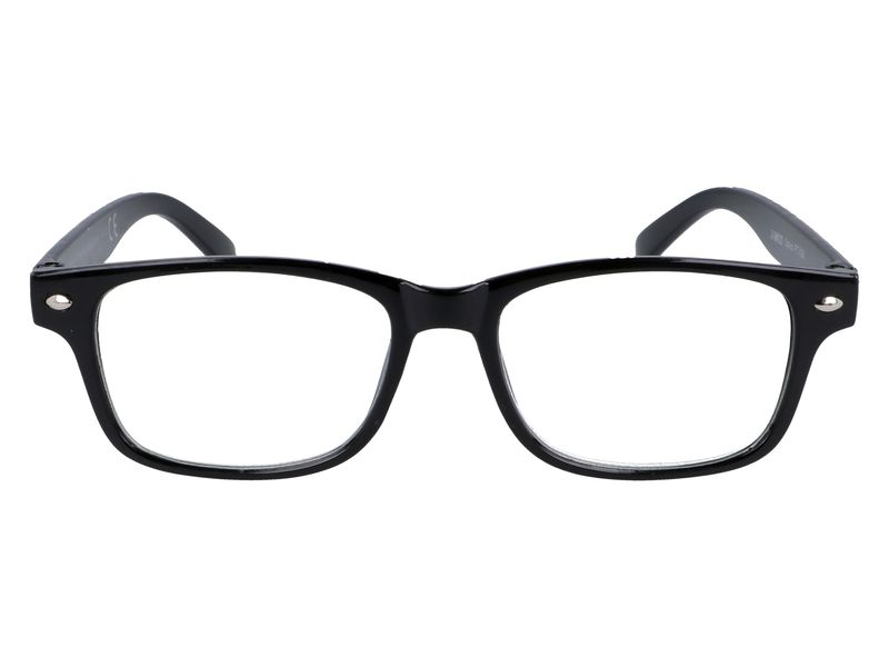 Czarne okulary korekcyjne do czytania plusy +3.50 zdjęcie 4