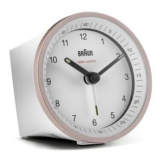 Braun BC07 Budzik zasilany bateryjne, radiowa synchronizacja czasu, podświetlenie, drzemka, alarm