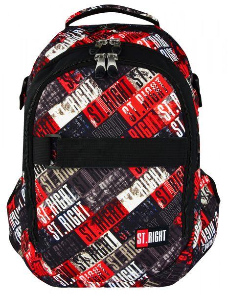 0976531fa32ad Plecak szkolny młodzieżowy ST.RIGHT czarny w kolorowe napisy