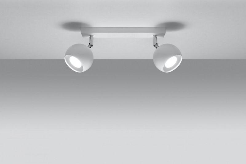Plafon OCULARE 2 Biały lampa domowa nowoczesna kuchnia salon jadalnia zdjęcie 3