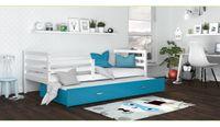 Łóżko wysuwane JACEK P2 COLOR 190x80  szuflada + materace
