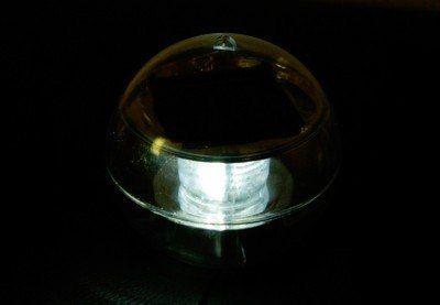 Lampa solarna biała LED, lampion ogrodowy w kształcie kuli zdjęcie 3