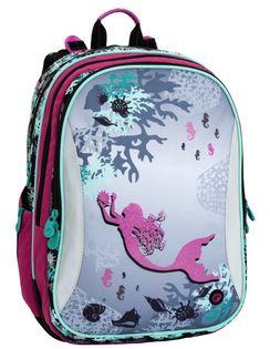 Plecak szkolny Bagmaster trzykomorowy - syrenka