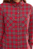 New Look Czerwona Luźna Koszula w Kratę - 34 / XS zdjęcie 3