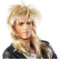 PERUKA hard ROCK BLOND długie włosy ROCKOWA