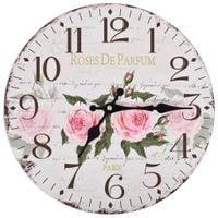 Zegar Ścienny Do Kuchni, W Stylu Vintage, Kwiat, 30 Cm