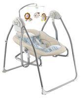 Przenośna Huśtawka z leżaczkiem beżowa dla niemowląt Baby Mix